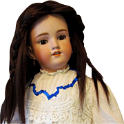 """Beautiful Handmade Brunette Hair Doll Wig fits Antique or Vintage doll  with 13"""" head circumference"""