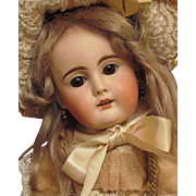 "Enchanting! 17"" Early German Sonneberg Doll Bahr & Proschild Mold 261, Silk French Costume, Super condition ~~ Layaway~~"