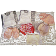 Lot of Undergarments Two sets of Little Cotton Singlet & Under Pants, Six underpants for small Dolls Ca+ 1950-1970