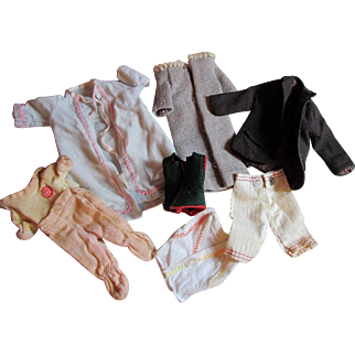 Vintage clothes for Barbie and Ken, Small Dolls Coat Jacket Robe Pants