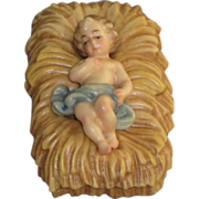 ANRI Bernardi Woodcarving Nativity Piece Infant Jesus