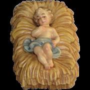 ANRI Bernardi Woodcarving Nativity Piece Infant Jesus