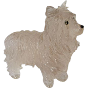 Rock crystal hand carved Scottie dog, early - mid 1900s.