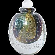 Vintage , 1988,  Eickholt, hand blown scent bottle.