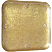 WMF art nouveau square brass tray, early 1900s.