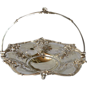 A Victorian silver-plated swing-handled fruit or cake basket, 1865c.
