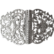Victorian sterling silver buckle, London 1893.