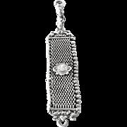 """Antique, 1900 c., 900 silver fob ( """"Petschaft Bierzipfel"""" )."""