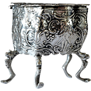 A German 800 standard silver trinket box, Karl Kurz, Kesselstadt, early 1900s.