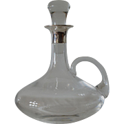 A ship's decanter with a handle  & sterling silver (925) mount, 1985c.
