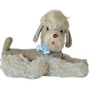 A soft stuffed toy , French poodle, early vintage.