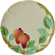 Majolica,art nouveau plates (5), late 19th century.