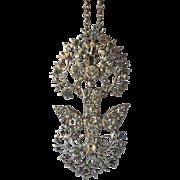 Saint Esprit, French, paste stone set pendant, mid/late 19th century.