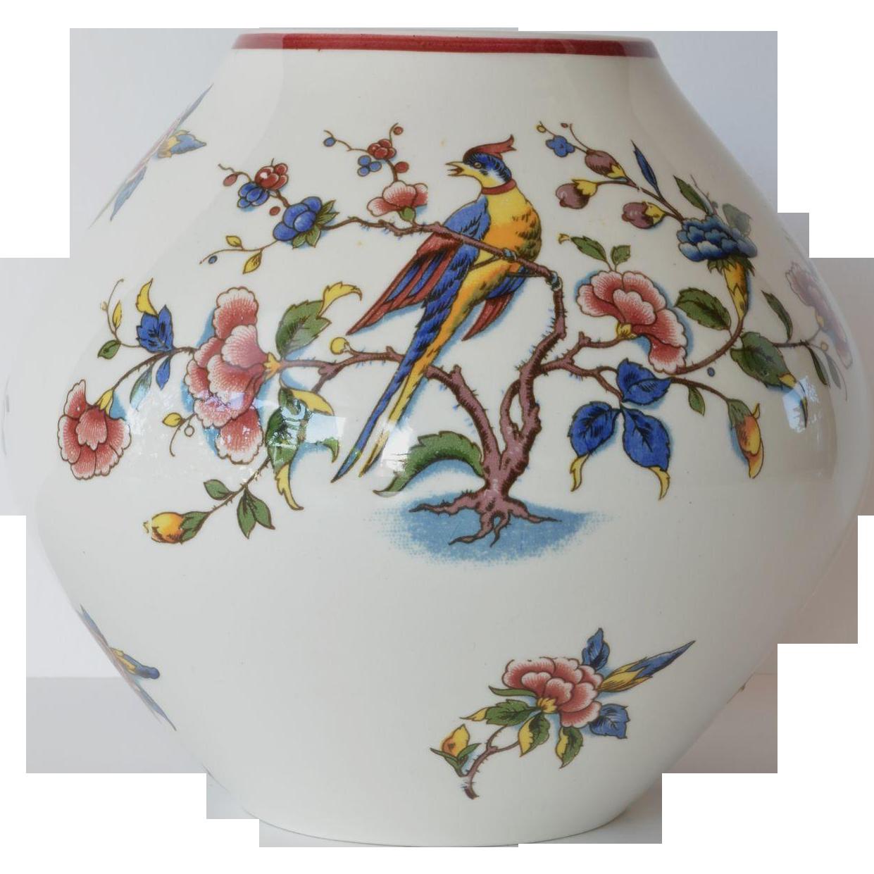 Ceramic vase villeroy boch mettlach saarland 1920 c - Villeroy y boch ...
