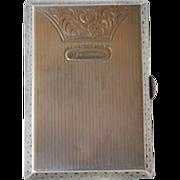 Silver 935 Card Case 1920s/1930s.