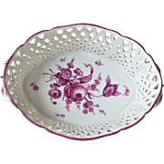 A Nymphenburg vintage oval reticulated dish.