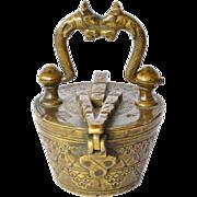 Apothecary's antique Nuremburg bronze nest of weights.