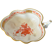 A Herend, vintage ( post 1948 ) hand painted dish.