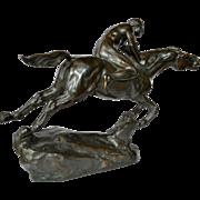 Heinrich Splieth ( 1877-1929 ), bronze horse & rider , 1919.