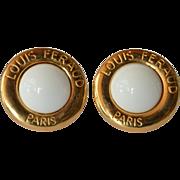 Louis Feraud, Paris,  vintage earrings.