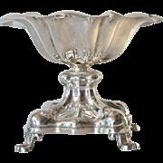 A European antique silver ( 13 Lot ) pedestal dish ,  mid 19th century.
