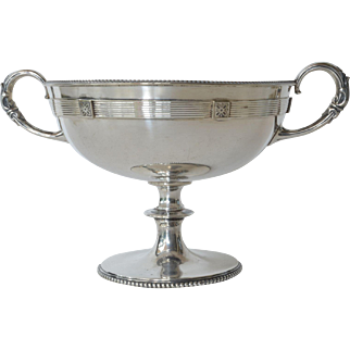 A Continental 800 standard silver two-handled cup, maker's mark A.R., 1930c.