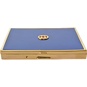 A vintage Gucci enamelled /gold plated cigarette case.