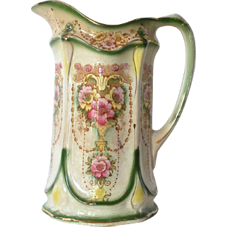 An early vintage  china cream/milk jug, unsigned, early 1900s.