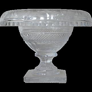 An Antique Irish Cut Glass Compote, 1830-1860.