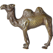 An early vintage patinated bronze Bachtrian camel.