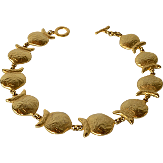 A vintage Edouard Rambaud 'Pisces' gold tone necklace, 1980s.