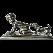 A WMF , Geislingen, Britannia metal paperweight, 1900 c.