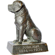 A solid bronze St. Bernard dog, 1934.