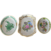 A trio of vintage (post 1948 ) Herend small dishes.