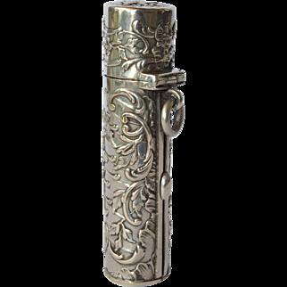 An art nouveau silver ( 800) lipstick holder, 1900c.