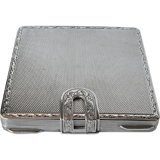 Art deco, early vintage Continental silver ( 800 standard ) box, 1925c.