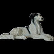 Czechoslovakian borzoi or barsoi ceramic figurine, 1920s.