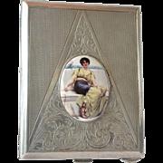 An art deco silver ( 800 standard ) continental cigarette case, 1930c.