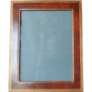 A vintage leather bound picture frame, 1975 c.