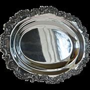 An Austrian 800 standard silver oval platter, J C Klinkosch, Vienna,1925c.