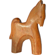 Antonio Vitali,vintage wooden toy horse, 1940s.