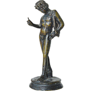 A small bronze , early vintage, figure of Narcissus.