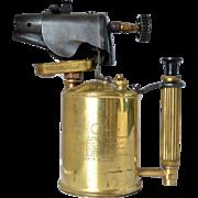 A vintage Max Sievert, Sweden,  brass/metal blow torch - 1960c.