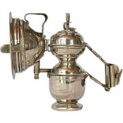 """Bicycle/motorcycle carbide lamp, """" Gloria """", early 1900s."""