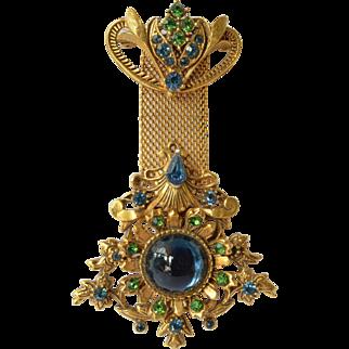 Vintage Florenza  costume jewellery pin brooch.