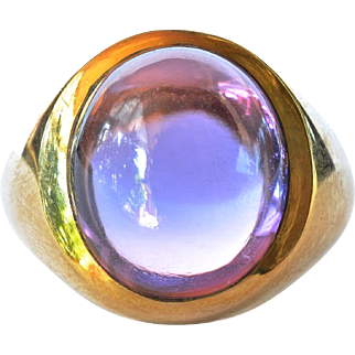 An  18ct Gold & Amethyst Ring, 1970c.