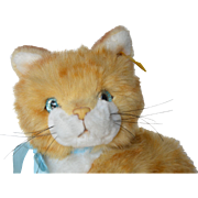 A vintage Steiff, made in Austria, Tapsy , ginger kitten.