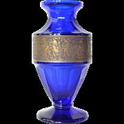 An early vintage Moser blue vase, 1925c.