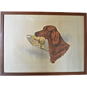 Boris Riab ( 1898 - 1975 ) , early vintage signed lithograph.