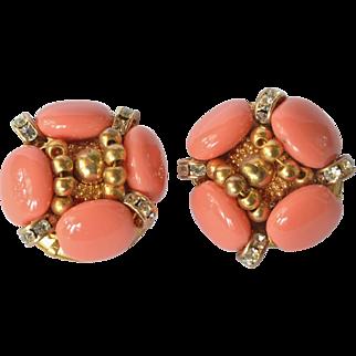Early vintage Nina Ricci, Paris, earrings.